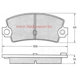 Renault 18 hátsó fékbetét