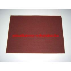 Csiszolóvászon 420x300 mm P100 A/3 bordó ZX-010 ipari