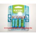 Elem AA Extol Ultra Life 1.5 v R6 /4db-os klt/