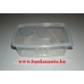 0,8 literes ételszállító mikró-fagyasztós műanyag edény