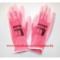 Munkavédelmi kesztyű női, rózsaszín, tenyér mártott A120, M8