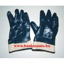 Munkavédelmi kesztyű vastag nitril kék mártott