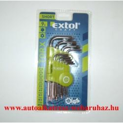 Torx készlet, extol, T10-T50, rövid