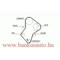 Vezérműszíj Peugeot, Dayco 94224 /5049/