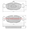Fékbetét opel astra F mintex mdb1556 /sr505/