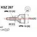 Féltengely csukló suzuki swift 19/23 olasz LPR KSZ267